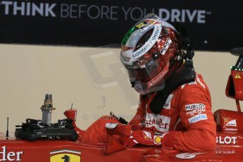 World © Octane Photographic Ltd. 2014 Formula 1 Abu Dhabi Grand Prix, F1 Qualifying, Saturday 22nd November 2014. Scuderia Ferrari - Fernando Alonso. Digital Ref : 1166LB1D1473