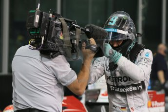 World © Octane Photographic Ltd. 2014 Formula 1 Abu Dhabi Grand Prix, F1 Qualifying, Saturday 22nd November 2014. Mercedes AMG Petronas F1 W05 - Nico Rosberg. Digital Ref : 1166LB1D1511