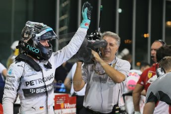 World © Octane Photographic Ltd. 2014 Formula 1 Abu Dhabi Grand Prix, F1 Qualifying, Saturday 22nd November 2014. Mercedes AMG Petronas F1 W05 - Nico Rosberg. Digital Ref : 1166LB1D1526