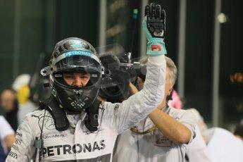 World © Octane Photographic Ltd. 2014 Formula 1 Abu Dhabi Grand Prix, F1 Qualifying, Saturday 22nd November 2014. Mercedes AMG Petronas F1 W05 - Nico Rosberg. Digital Ref : 1166LB1D1531