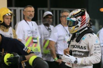 World © Octane Photographic Ltd. 2014 Formula 1 Abu Dhabi Grand Prix, F1 Qualifying, Saturday 22nd November 2014. Mercedes AMG Petronas F1 W05 - Lewis Hamilton. Digital Ref : 1166LB1D1553