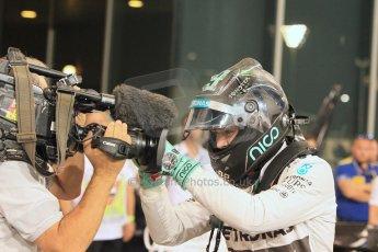 World © Octane Photographic Ltd. 2014 Formula 1 Abu Dhabi Grand Prix, F1 Qualifying, Saturday 22nd November 2014. Mercedes AMG Petronas F1 W05 - Nico Rosberg. Digital Ref : 1166LW1L8425