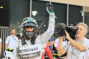 World © Octane Photographic Ltd. 2014 Formula 1 Abu Dhabi Grand Prix, F1 Qualifying, Saturday 22nd November 2014. Mercedes AMG Petronas F1 W05 - Nico Rosberg. Digital Ref : 1166LW1L8458