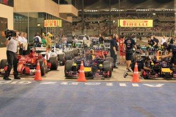 World © Octane Photographic Ltd. 2014 Formula 1 Abu Dhabi Grand Prix, F1 Qualifying, Saturday 22nd November 2014. Parc Ferme. Digital Ref : 1166LW1L8503