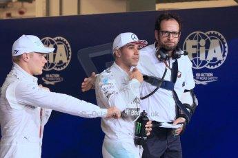 Mercedes AMG Petronas - Lewis Hamilton and Williams Racing - Valtteri Bottas. Digital Ref : 1166LW1L8534