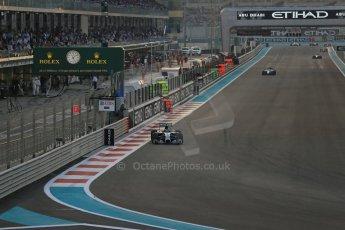 World © Octane Photographic Ltd. Sunday 23rd November 2014. Abu Dhabi Grand Prix - Yas Marina Circuit - Formula 1 Race. Mercedes AMG Petronas F1 W05 Hybrid - Nico Rosberg. Digital Ref:
