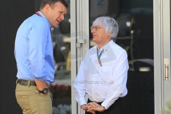 World © Octane Photographic Ltd. Sunday 23rd November 2014. Abu Dhabi Grand Prix - Yas Marina Circuit - Bernie Ecclestone. Digital Ref: