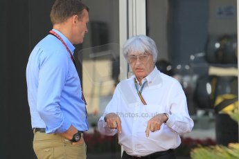 World © Octane Photographic Ltd. Sunday 23rd November 2014. Abu Dhabi Grand Prix - Yas Marina Circuit - Bernie Ecclestone. Digital Ref: