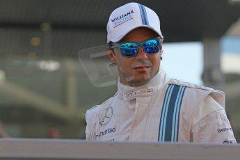 World © Octane Photographic Ltd. Sunday 23rd November 2014. Abu Dhabi Grand Prix - Yas Marina Circuit - Formula 1 Drivers Parade. Williams Racing - Felipe Massa. Digital Ref: