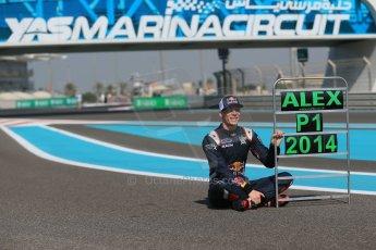 World © Octane Photographic Ltd. Sunday 23rd November 2014. Abu Dhabi Grand Prix - GP2 and GP3 champions photo shoot. Alex Lynn - Carlin - GP3 Champion. Digital Ref: 1168CB1D6381