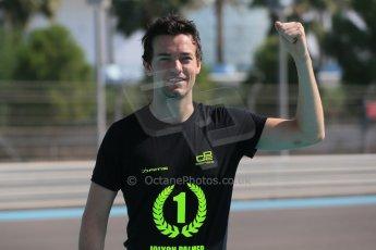 World © Octane Photographic Ltd. Sunday 23rd November 2014. Abu Dhabi Grand Prix - GP2 and GP3 champions photo shoot. Jolyon Palmer - DAMS - GP2 Champion. Digital Ref: 1168CB1D6559