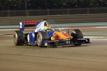 World © Octane Photographic Ltd. 2014 Formula 1 Abu Dhabi Grand Prix, GP2 Qualifying, Friday 21st November 2014. Sergio Canamasas - Trident. Digital Ref : 1162CB1D7373
