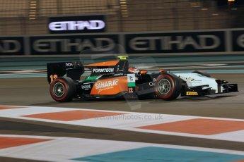 World © Octane Photographic Ltd. 2014 Formula 1 Abu Dhabi Grand Prix, GP2 Qualifying, Friday 21st November 2014. Jon Lancaster - Hilmer Motorsport. Digital Ref : 1162CB1D7458