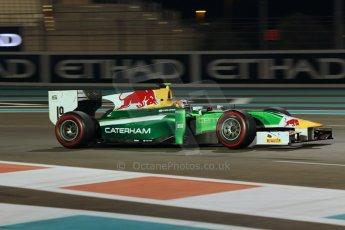 World © Octane Photographic Ltd. 2014 Formula 1 Abu Dhabi Grand Prix, GP2 Qualifying, Friday 21st November 2014. Pierre Gasly – Caterham Racing. Digital Ref : 1162CB1D7471