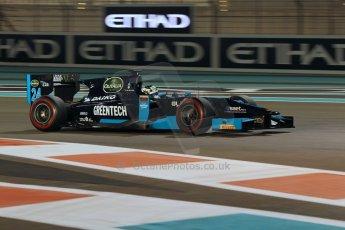 World © Octane Photographic Ltd. 2014 Formula 1 Abu Dhabi Grand Prix, GP2 Qualifying, Friday 21st November 2014. Nathanael Berthon - Venezuela GP Lazarus. Digital Ref : 1162CB1D7550