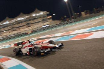 World © Octane Photographic Ltd. 2014 Formula 1 Abu Dhabi Grand Prix, GP2 Qualifying, Friday 21st November 2014. Stoffel Vandoorne - ART Grand Prix. Digital Ref : 1162CB7D8238