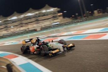 World © Octane Photographic Ltd. 2014 Formula 1 Abu Dhabi Grand Prix, GP2 Qualifying, Friday 21st November 2014. Nicholas Latifi - Hilmer Motorsport. Digital Ref : 1162CB7D8261
