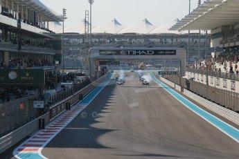 World © Octane Photographic Ltd. Sunday 23rd November 2014. GP2 Race 2 – Abu Dhabi GP - Yas Marina Circuit, United Arab Emirates. Race start. Digital Ref :1170CB1D6923