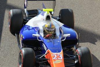 World © Octane Photographic Ltd. Sunday 23rd November 2014. GP2 Race 2 – Abu Dhabi GP - Yas Marina Circuit, United Arab Emirates. Johnny Cecotto - Trident. Digital Ref :1170CB1D9263