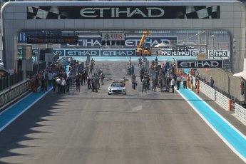 World © Octane Photographic Ltd. Sunday 23rd November 2014. GP3 Race 2 – Abu Dhabi GP - Yas Marina Circuit, United Arab Emirates. The grid forms up. Digital Ref :