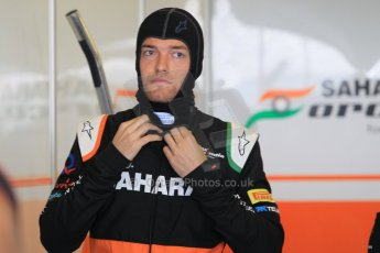 World © Octane Photographic Ltd. Tuesday 25th November 2014. Abu Dhabi Testing - Yas Marina Circuit. Sahara Force India VJM07 – Jolyon Palmer. Digital Ref : 1174CB1D7929