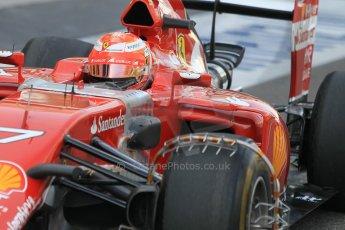 World © Octane Photographic Ltd. Tuesday 25th November 2014. Abu Dhabi Testing - Yas Marina Circuit. Scuderia Ferrari F14T - Kimi Raikkonen. Digital Ref: 1174CB1D8260