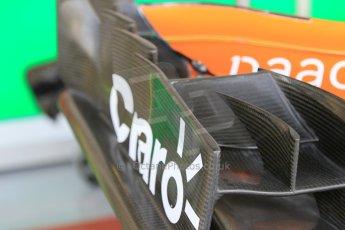 World © Octane Photographic Ltd. Tuesday 25th November 2014. Abu Dhabi Testing - Yas Marina Circuit. Sahara Force India VJM07 wing detail – Jolyon Palmer. Digital Ref : 1174CB1D8306