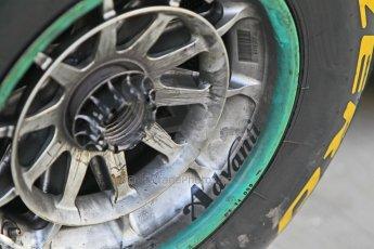 World © Octane Photographic Ltd. Tuesday 25th November 2014. Abu Dhabi Testing - Yas Marina Circuit. Mercedes AMG Petronas F1 W05 Hybrid front wheel. Digital Ref: 1174CB1D8370