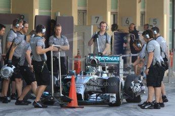 World © Octane Photographic Ltd. Tuesday 25th November 2014. Abu Dhabi Testing - Yas Marina Circuit. Mercedes AMG Petronas F1 W05 Hybrid – Nico Rosberg. Digital Ref: 1174CB7D8577