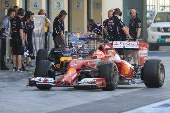 World © Octane Photographic Ltd. Tuesday 25th November 2014. Abu Dhabi Testing - Yas Marina Circuit. Scuderia Ferrari F14T - Kimi Raikkonen. Digital Ref: 1174CB7D8594