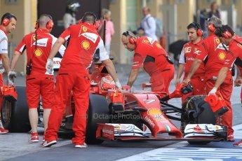 World © Octane Photographic Ltd. Tuesday 25th November 2014. Abu Dhabi Testing - Yas Marina Circuit. Scuderia Ferrari F14T - Kimi Raikkonen. Digital Ref: 1174CB7D8619
