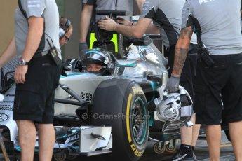 World © Octane Photographic Ltd. Tuesday 25th November 2014. Abu Dhabi Testing - Yas Marina Circuit. Mercedes AMG Petronas F1 W05 Hybrid – Nico Rosberg. Digital Ref: 1174CB7D8682