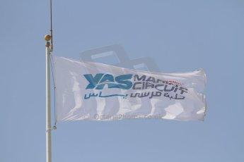 World © Octane Photographic Ltd. Tuesday 25th November 2014. Abu Dhabi Testing - Yas Marina Circuit flag. Digital Ref: 1174CB7D8706