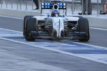 World © Octane Photographic Ltd. Tuesday 25th November 2014. Abu Dhabi Testing - Yas Marina Circuit. Williams Racing FW36 – Valtteri Bottas. Digital Ref: 1174LB1D7972