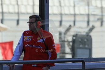 World © Octane Photographic Ltd. Tuesday 25th November 2014. Abu Dhabi Testing - Yas Marina Circuit. Scuderia Ferrari - Aerodynamics Team Leader - Marco Fusacchia. Digital Ref: 1174LB1D8123