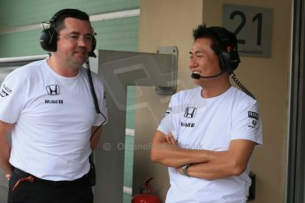 World © Octane Photographic Ltd. Tuesday 25th November 2014. Abu Dhabi Testing - Yas Marina Circuit. McLaren Honda - Eric Boullier. Digital Ref: 1174LB1D8284
