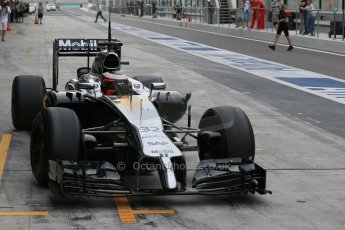 World © Octane Photographic Ltd. Tuesday 25th November 2014. Abu Dhabi Testing - Yas Marina Circuit. McLaren Honda MP4-29H/1X1 - Stoffel Vandoorne. Digital Ref: 1174LB1D8324
