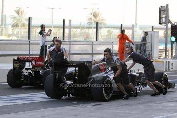 World © Octane Photographic Ltd. Tuesday 25th November 2014. Abu Dhabi Testing - Yas Marina Circuit. Sauber C33 – Marcus Ericsson and Lotus F1 Team E22 – Charles Pic. Digital Ref: 1174LB7L9542