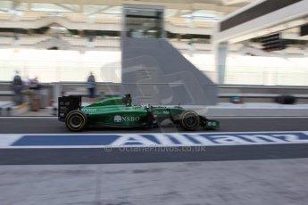 World © Octane Photographic Ltd. Tuesday 25th November 2014. Abu Dhabi Testing - Yas Marina Circuit. Caterham F1 Team CT05 – William Stevens. Digital Ref: 1174LB7L9731