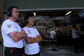 World © Octane Photographic Ltd. Tuesday 25th November 2014. Abu Dhabi Testing - Yas Marina Circuit. McLaren Honda MP4-29H/1X1 - Eric Boullier. Digital Ref: 1174LB7L9837