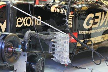 World © Octane Photographic Ltd. Wednesday 26th November 2014. Abu Dhabi Testing - Yas Marina Circuit. Lotus F1 Team E22 – Esteban Ocon. Digital Ref: 1175CB1D8623