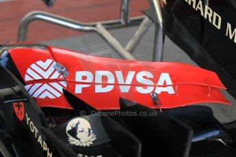 World © Octane Photographic Ltd. Wednesday 26th November 2014. Abu Dhabi Testing - Yas Marina Circuit. Lotus F1 Team E22 front wing detail. Digital Ref: 1175CB1D8671