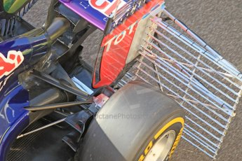 World © Octane Photographic Ltd. Wednesday 26th November 2014. Abu Dhabi Testing - Yas Marina Circuit. Infiniti Red Bull Racing RB10 rear suspension. Digital Ref: 1175CB1D8851