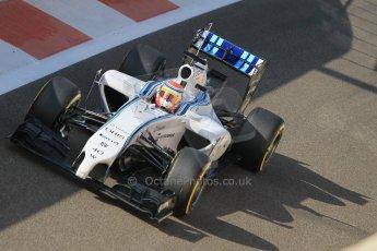 World © Octane Photographic Ltd. Wednesday 26th November 2014. Abu Dhabi Testing - Yas Marina Circuit. Williams Racing FW36 – Felipe Nasr. Digital Ref: 1175CB1D8855