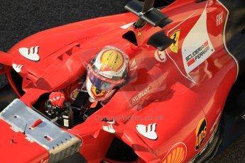 World © Octane Photographic Ltd. Wednesday 26th November 2014. Abu Dhabi Testing - Yas Marina Circuit. Scuderia Ferrari F14T – Raffaele Marciello. Digital Ref: 1175CB1D8901