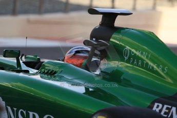 World © Octane Photographic Ltd. Wednesday 26th November 2014. Abu Dhabi Testing - Yas Marina Circuit. Caterham F1 Team CT05 – William Stevens. Digital Ref: 1175CB1D9066
