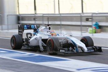 World © Octane Photographic Ltd. Wednesday 26th November 2014. Abu Dhabi Testing - Yas Marina Circuit. Williams Racing FW36 – Felipe Nasr. Digital Ref: 1175CB1D9161