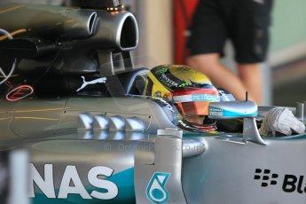 World © Octane Photographic Ltd. Wednesday 26th November 2014. Abu Dhabi Testing - Yas Marina Circuit. Mercedes AMG Petronas F1 W05 Hybrid - Pascal Wehrlein. Digital Ref: 1175CB1D9202