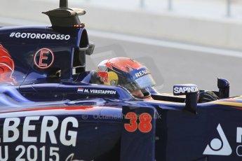World © Octane Photographic Ltd. Wednesday 26th November 2014. Abu Dhabi Testing - Yas Marina Circuit. Scuderia Toro Rosso STR 9 – Max Verstappen. Digital Ref: 1175CB1D9360