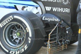 World © Octane Photographic Ltd. Wednesday 26th November 2014. Abu Dhabi Testing - Yas Marina Circuit. Williams Racing FW36 aero test rig. Digital Ref: 1175CB1D9500